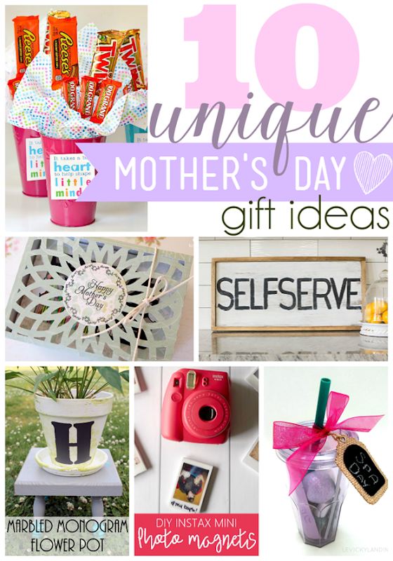 10 Unique Mother's Day Gift Ideas at GingerSnapCrafts.com #mothersday #giftideas