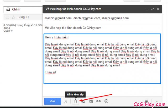 soạn thảo email, viết thư điện tử