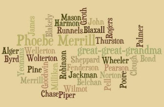 Photo: Wordle . . . Phoebe et al . . .