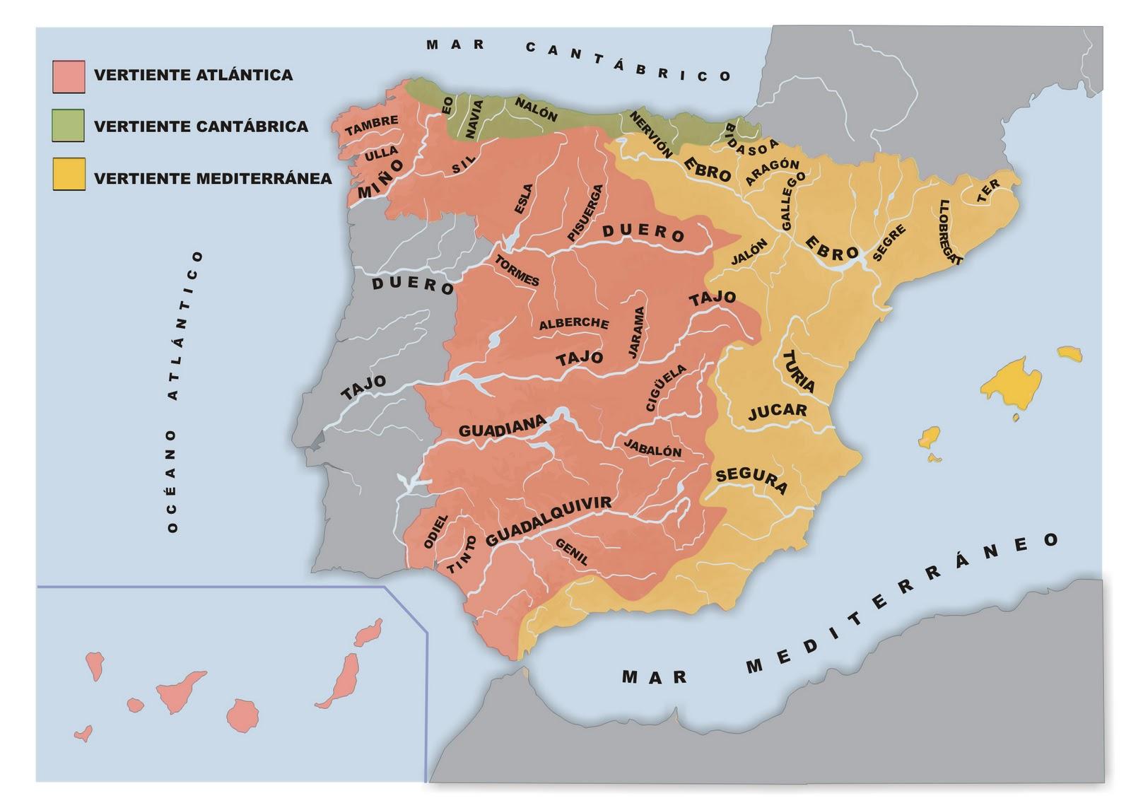 Mapa Rios De España 6 Primaria.Mas De 100 Imagenes Y Mapas De Rios De Espana