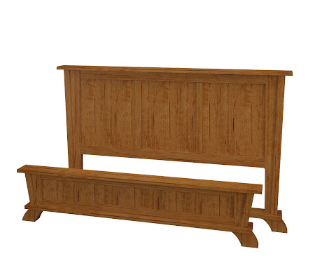 Baroque Platform Bed in Como Maple