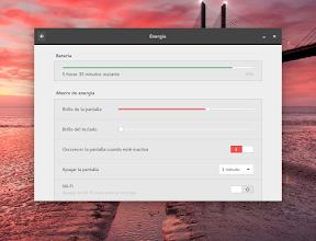 Configurar el hardware en GNOME. Energía 2.