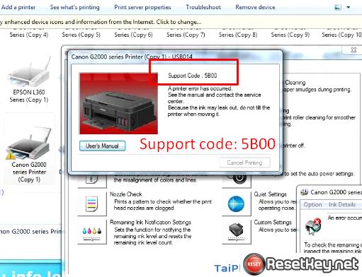 fix canon G1000 serial 5B00 Error - image 3