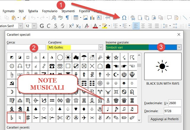 note-musicali-libreoffice