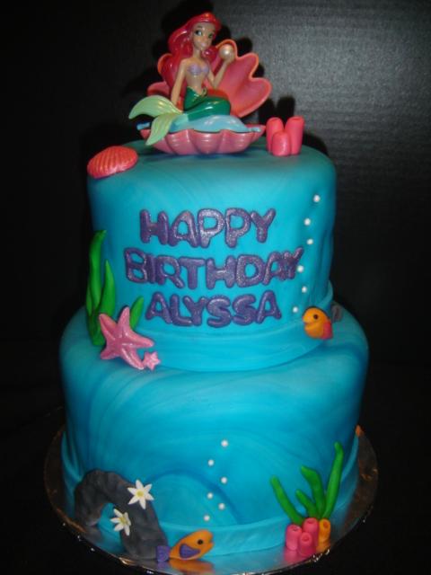 Free Cakes For Kids Killeen Our Third Cake Little Mermaid For Alyssa