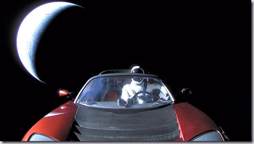 Starman going to deep space