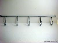 裝潢五金型號:JS702-5電鍍五聯鉤規格:35.5CM顏色:銀色玖品五金