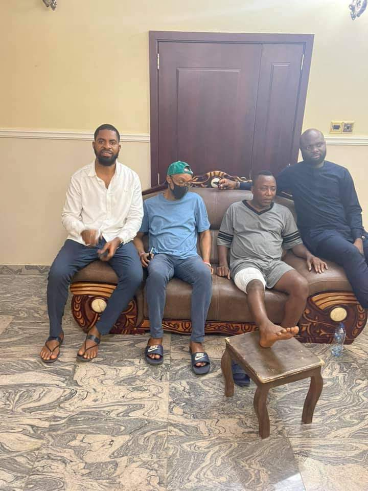 Sowore Discharged, Returns Home (Pictures)