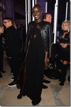 NEW YORK, NY - FEBRUARY 13: Model Ajak Deng attends the Front Row for the Philipp Plein Fall/Winter 2017/2018 Women's And Men's Fashion Show at The New York Public Library on February 13, 2017 in New York City.  (Photo by Andrew Toth/Getty Images for Philip Plein)