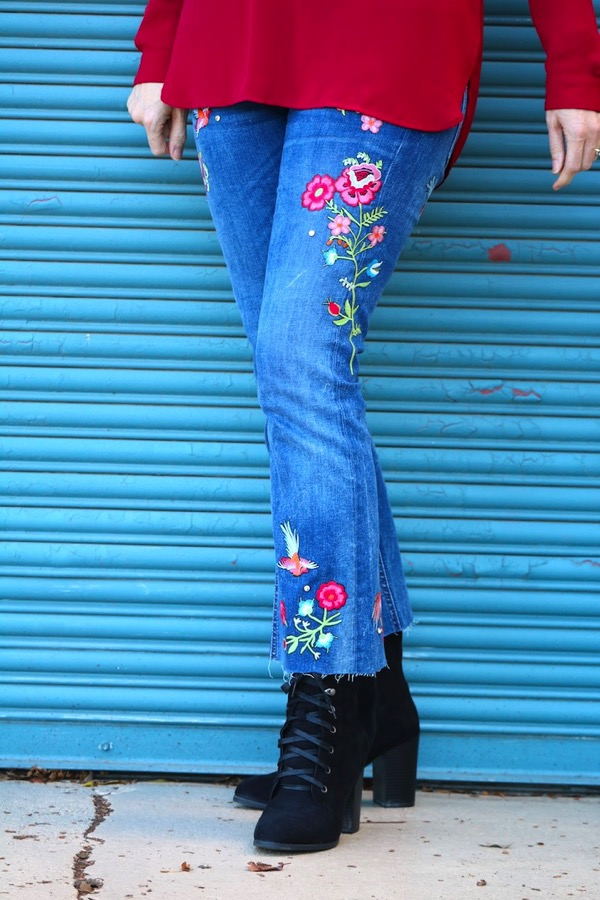 Embroidered Zara Jeans 4