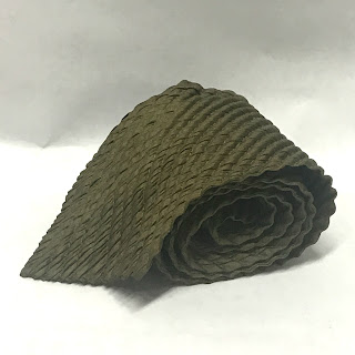 Issey Miyake Men Pleated Olive Tie