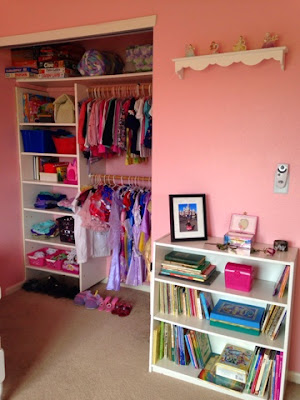 Little girl's pink ballet and princess bedroom www.thebrighterwriter.blogspot.com