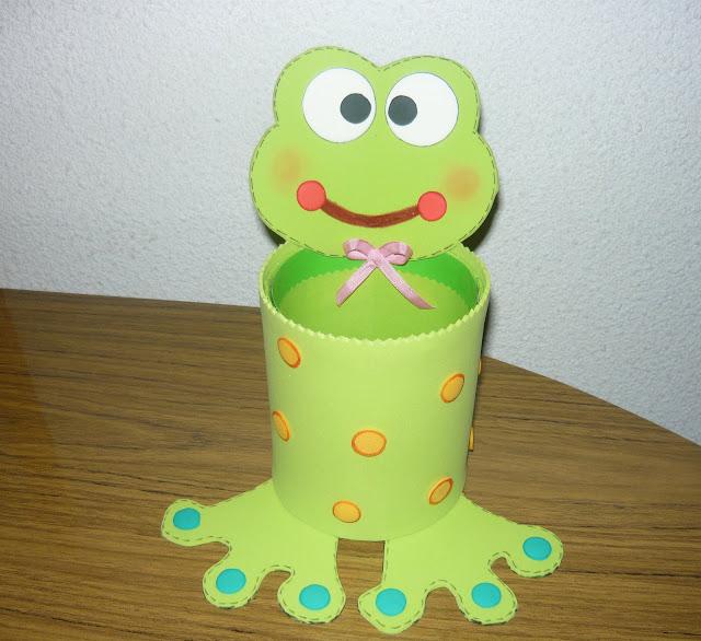 Portalapiz de rana en fomy - Imagui
