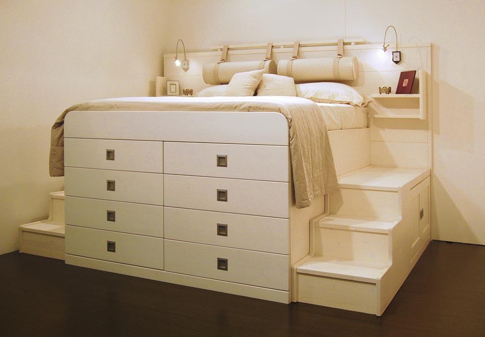 Camere da letto offerta di letti armadi armadi - Letto matrimoniale con contenitore ikea ...
