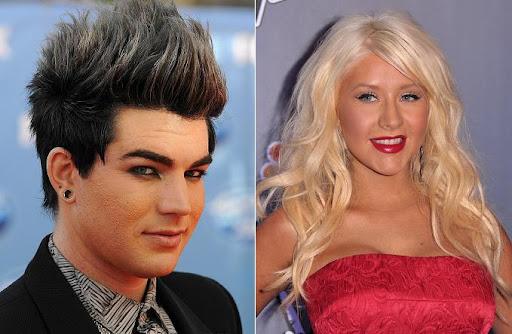 Adam Lambert e Christina Aguilera gravaram dueto para o novo CD do cantor