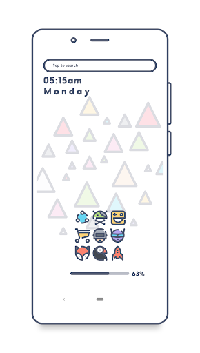 Screenshot for KAMIJARA Icon Pack in United States Play Store