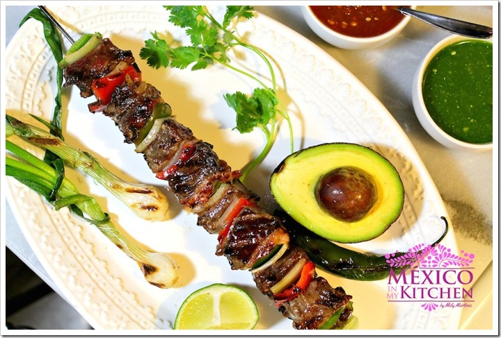 Mexican Beef Kababs Alambres
