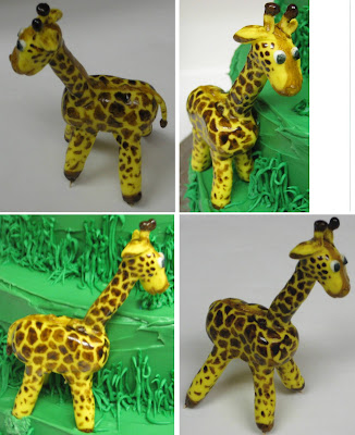 Jungle Animal Cake - Close-up Views of Giraffe