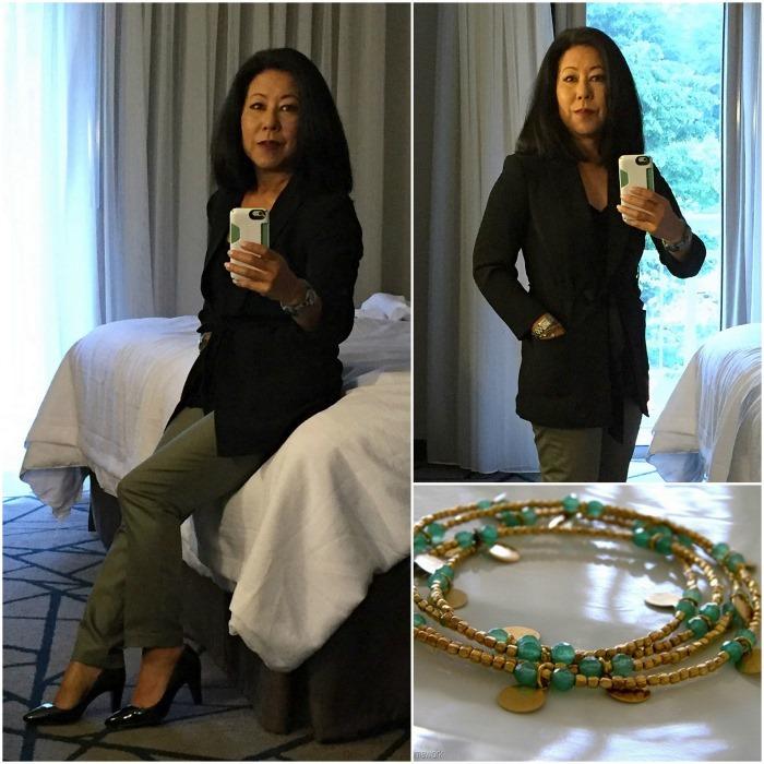 Business Travel Fashion 50  Black Wrap Jacket