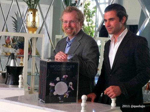 Nathan Myrhvold y Maxime Bilet (coautores de modernist Cuisine