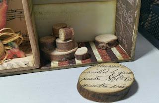 Detalle de rodajas de madera