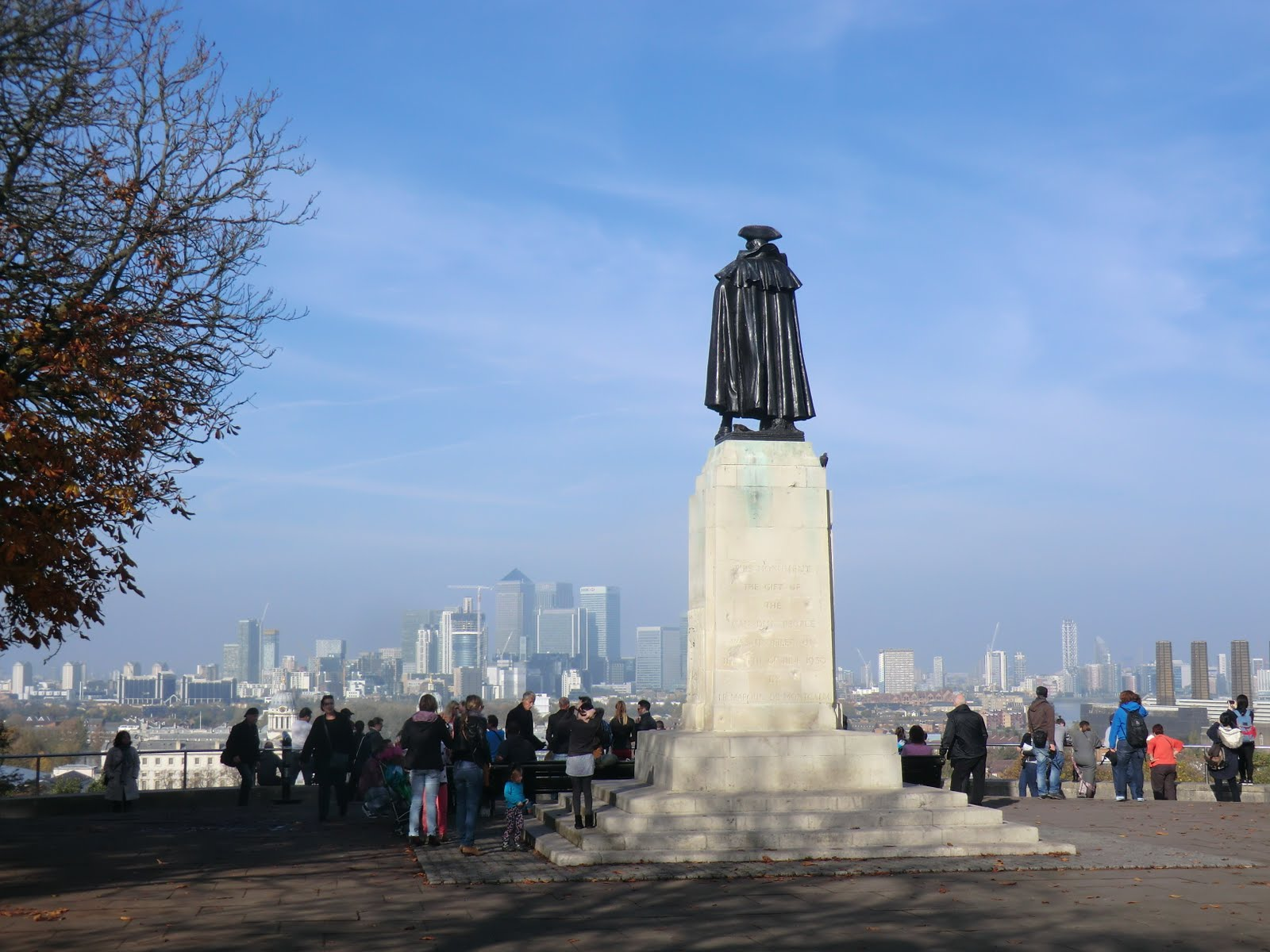 CIMG0949 Wolfe statue, Greenwich Park