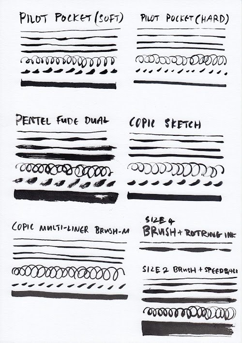 Brush Pens Compared - 02