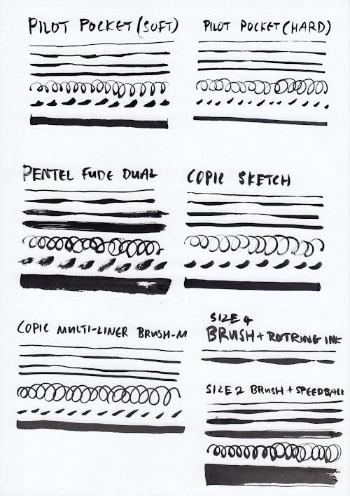 Brush Pens Compared - 02