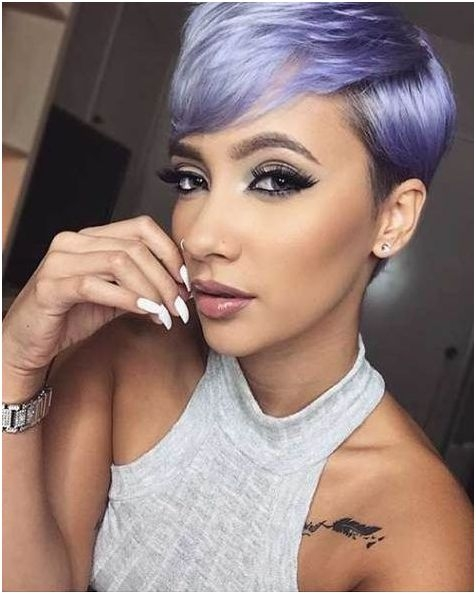 Best Pixie Haircuts For Square Faces: Cute Dark Pixie Haircut For Women Square Face