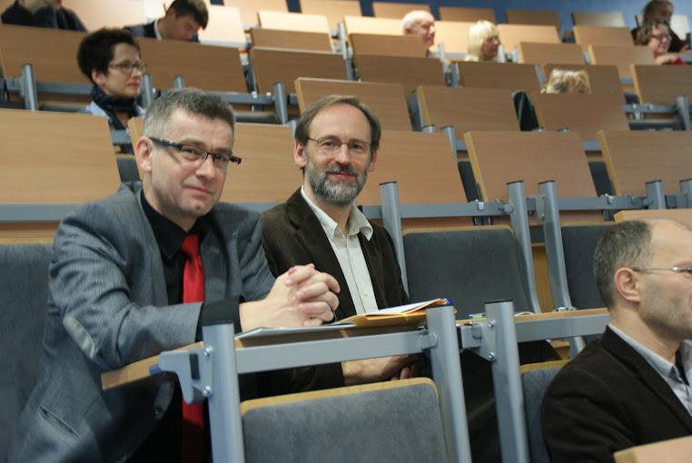 dr Andrzej Stefańczyk i profesor Ryszard Mordarski