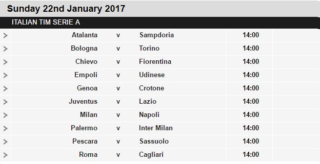 Serie%2BA%2Bschedule%2B21 Planning a Football Trip to Italy - SERIE A FIXTURES 2016/17