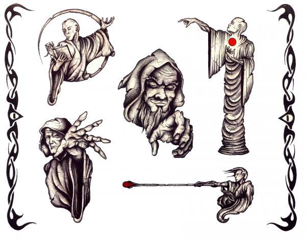 Horror Tattoo Design 10, Fantasy Tattoo Designs