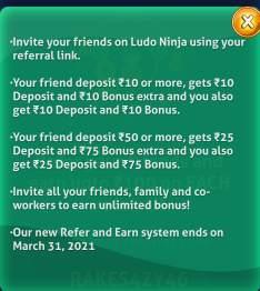 ludo ninja refer and earn
