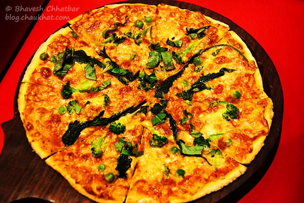 Verdure Thin Crust Veg Pizza at Frisco, Koregaon Park, Pune