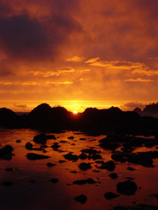 Photo of the the best sunset I have ever seen. Photo taken on April 27, 2007 at Cape Alava, WA.