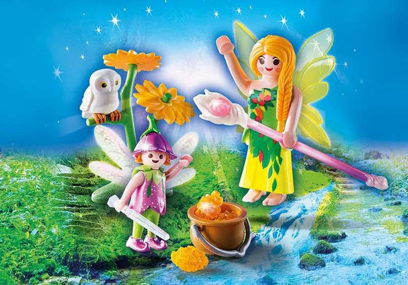 Contenido real de Playmobil® 9208 Hada con Varita Mágica y Flor
