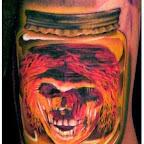 Skull in a Bottle - Skull Tattoos