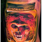Skull in a Bottle - Skull Tattoos
