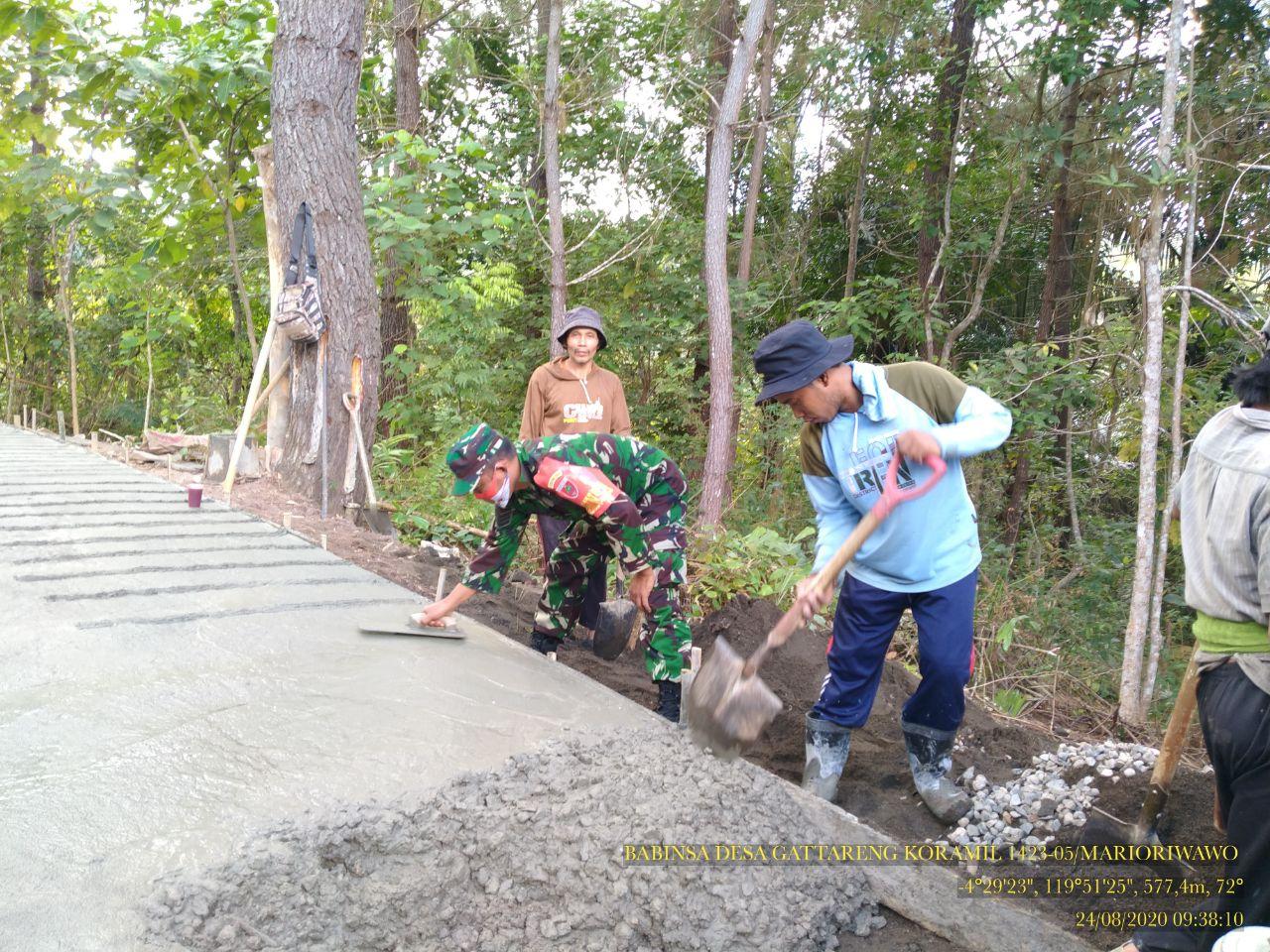 Wujudkan Kemanunggalan TNI dan Rakyat, Koramil 05 Marioriwawo Lakukan Ini