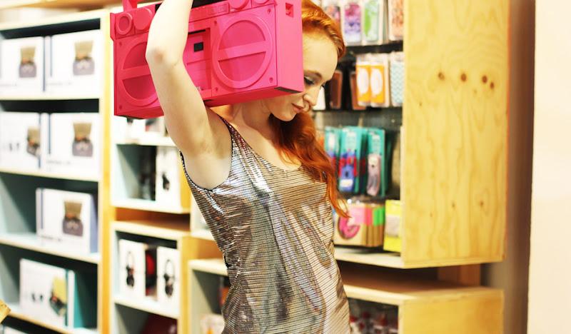Disco Mini Gown Pink Boombox