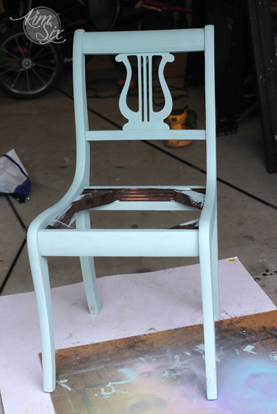 Repainting thrift store chair