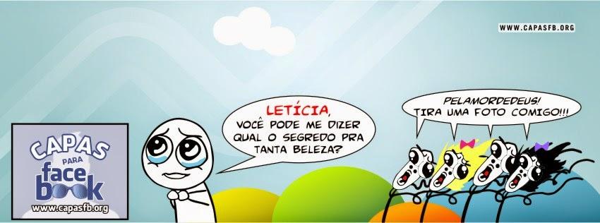 Capas para Facebook Letícia