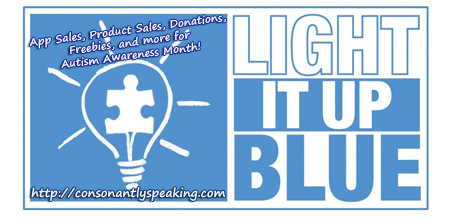 Light It Up Blue App Sales, Product Sales, Donations, Freebies, and More