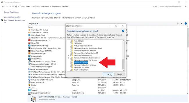 Kiểm tra các file và ứng dụng trong Sandbox