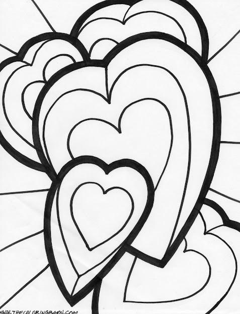 Hearts And Roses Coloring Pages  Coloring Page Bow Heart Coloring Page  Flying Heart Coloring Page