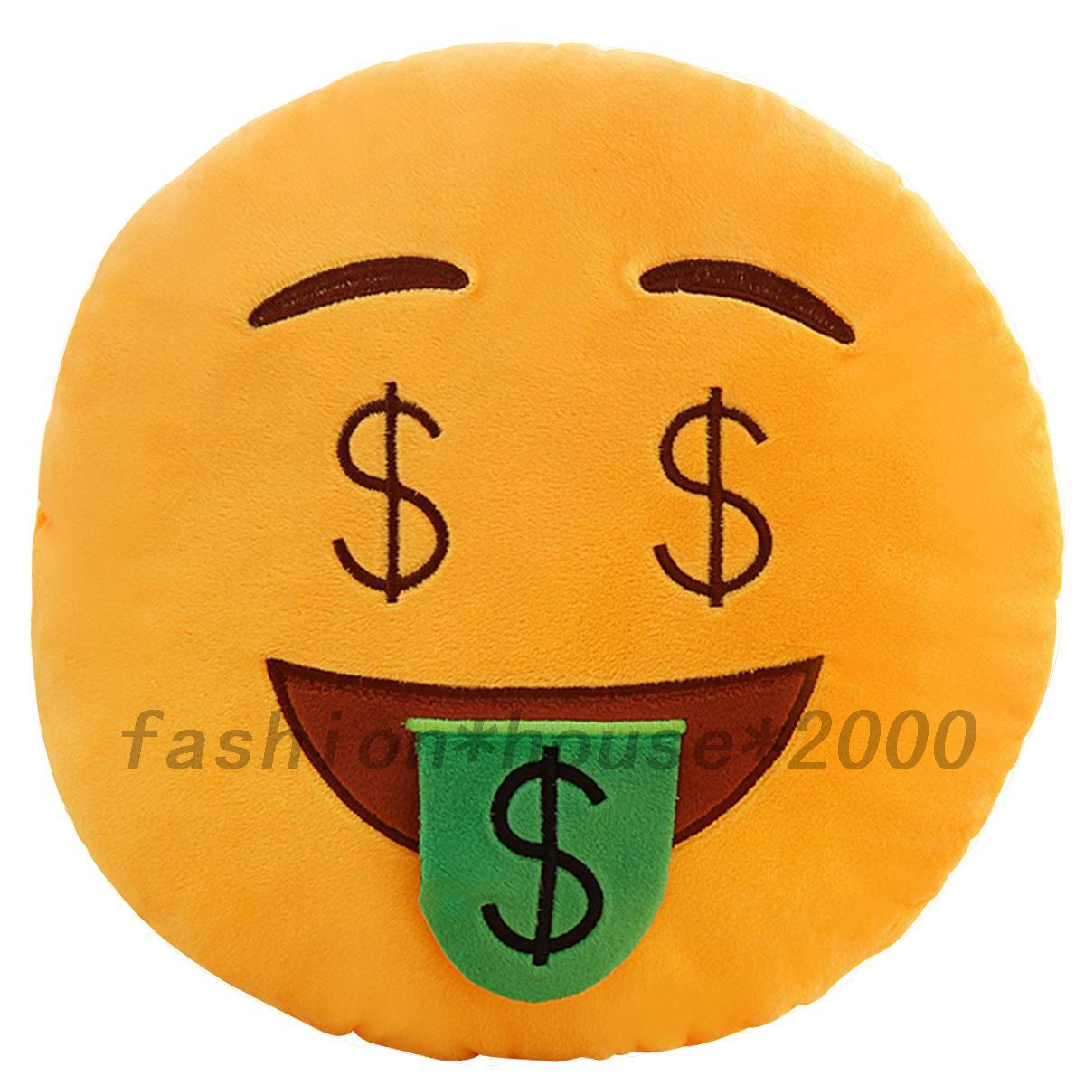 Emoji coussin de canap peluche dessin anim bureau - Smiley a dessiner ...