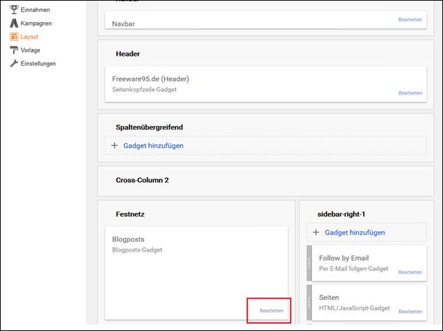 Labels in Blogger einbinden aktivieren