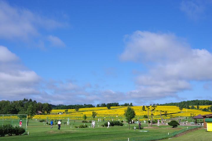 写真:ひまわりパークゴルフ場から臨む