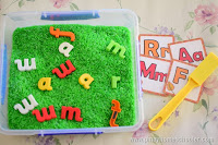 Magnetic Alphabet Sorting Activity and Sensorial Play
