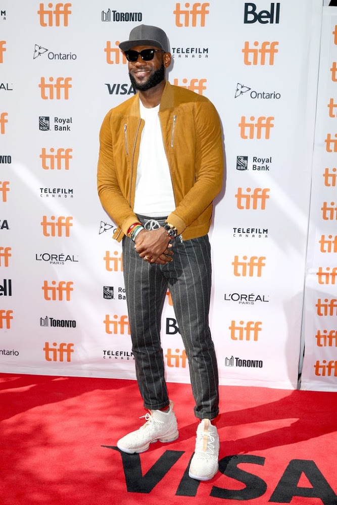 db3805b138d LBJ Wears LeBron 15 Ghost for The Carter Effect Premiere in Toronto ...